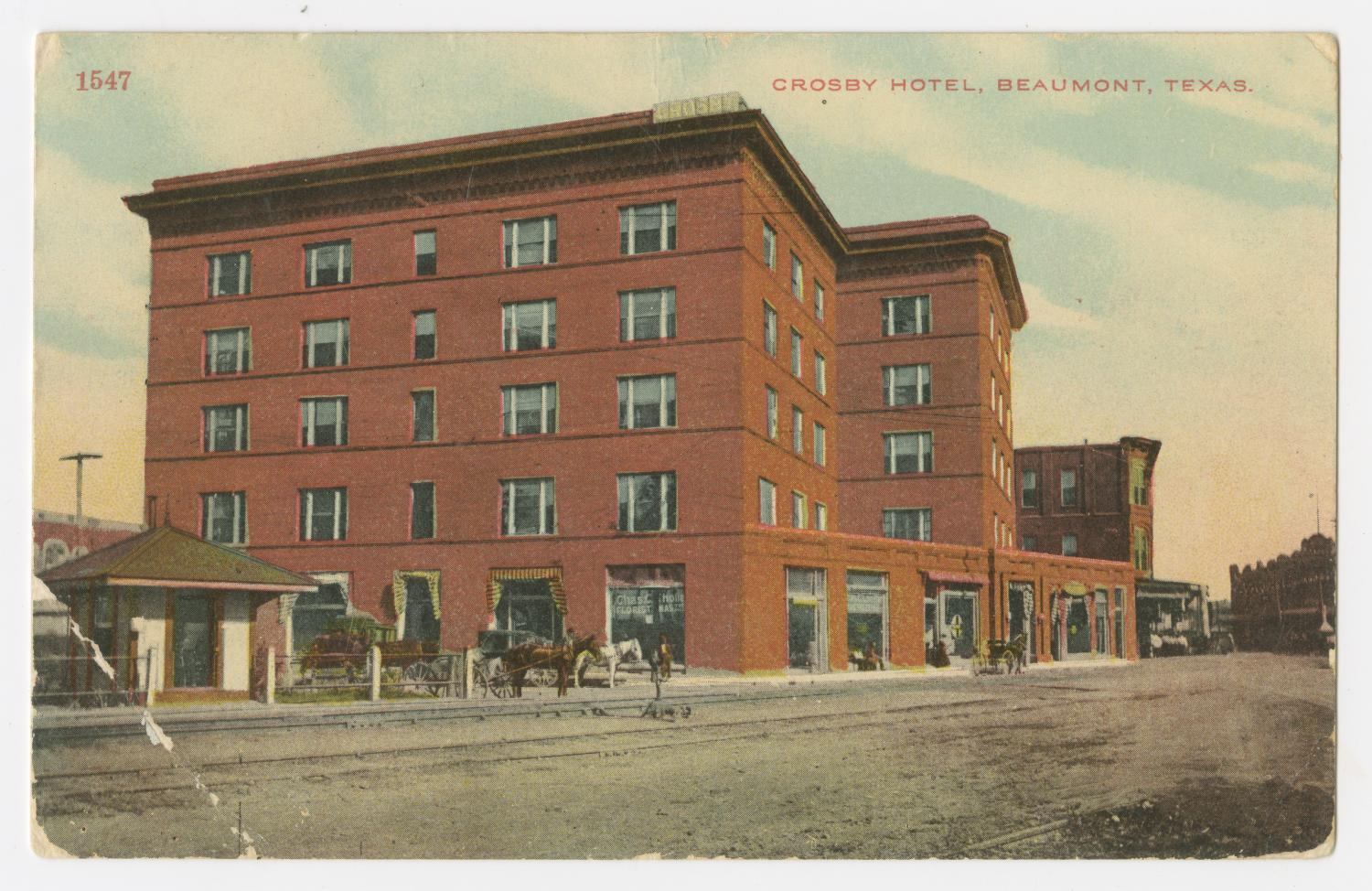 Postcard Of Crosby Hotel In Beaumont The Portal To Texas History