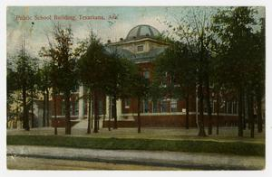 Primary view of object titled '[Postcard of Public School Building in Texarkana]'.