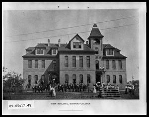 Primary view of object titled 'Old Main at Simmons University'.