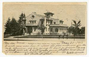 Primary view of object titled '[Postcard of Residence on North Yakima Ave.]'.