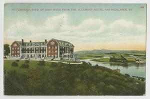 Primary view of object titled '[Postcard of View of Ohio River from Altamont Hotel]'.