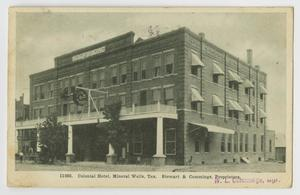 Primary view of object titled '[Postcard of Colonial Hotel in Mineral Wells, Tex.]'.