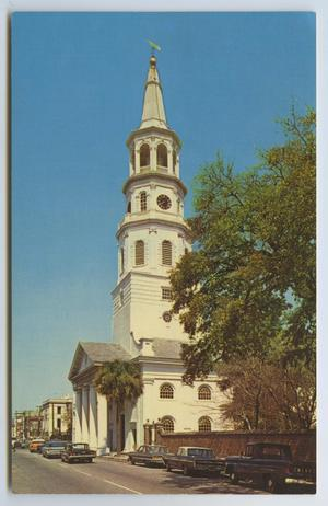 Primary view of object titled '[Postcard of St. Michael's Church]'.
