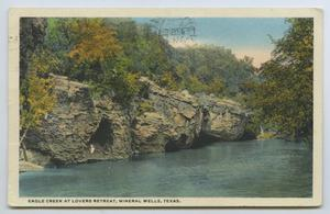 Primary view of object titled '[Postcard of Eagle Creek at Lover's Retreat]'.