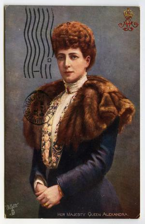 Primary view of object titled '[Postcard of Queen Alexandra]'.