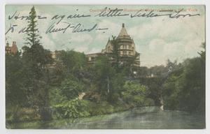Primary view of object titled '[Postcard of Central Park and Museum of Natural History]'.