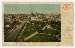 Primary view of object titled '[Postcard of the Galveston Court House]'.