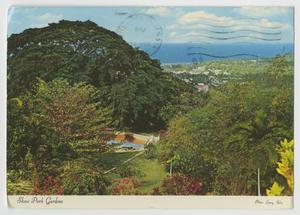 Primary view of object titled '[Postcard of Shaw Park Gardens]'.