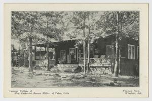Primary view of object titled '[Postcard of Summer Cottage of Mrs. Katherine Barnes Miller]'.