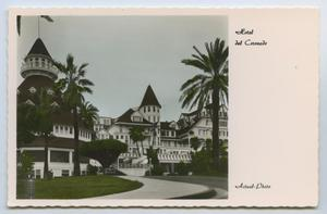 Primary view of object titled '[Postcard of Hotel del Coronado]'.
