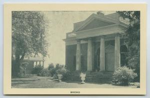 Primary view of object titled '[Postcard of East Wing of Bremo]'.