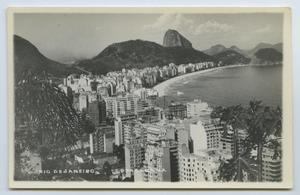 Primary view of object titled '[Postcard of Black and White Rio De Janeiro]'.