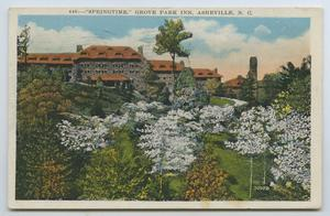 Primary view of object titled '[Postcard of Grove Park Inn]'.