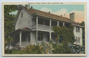 Primary view of object titled '[Postcard of Zachary Taylor Home]'.