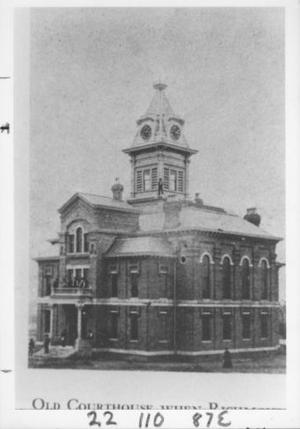 Primary view of object titled '[Old Fort Bend County Courthouse.]'.