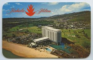 Primary view of object titled '[Postcard of an Aerial View of Kahala Hilton]'.