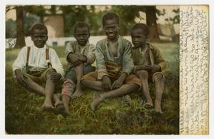 Primary view of object titled '[Postcard of Group of Young Boys]'.