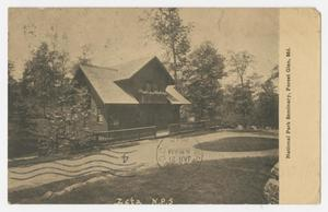 Primary view of object titled '[Postcard of National Park Seminary in Forest Glen]'.