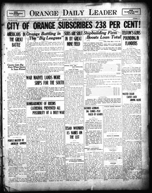 Primary view of object titled 'Orange Daily Leader (Orange, Tex.), Vol. 14, No. 75, Ed. 1 Saturday, May 4, 1918'.