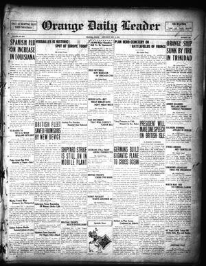 Primary view of object titled 'Orange Daily Leader (Orange, Tex.), Vol. 14, No. 250, Ed. 1 Saturday, December 7, 1918'.