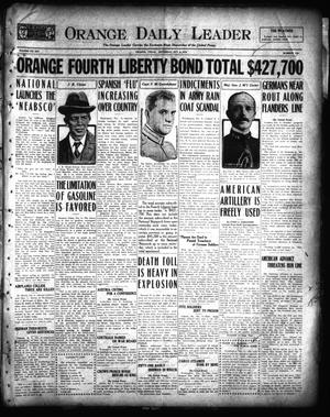 Primary view of object titled 'Orange Daily Leader (Orange, Tex.), Vol. 14, No. 196, Ed. 1 Saturday, October 5, 1918'.