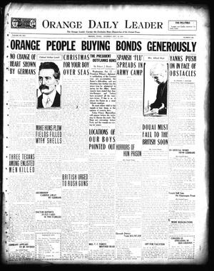 Primary view of object titled 'Orange Daily Leader (Orange, Tex.), Vol. 14, No. 202, Ed. 1 Saturday, October 12, 1918'.
