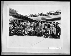 Primary view of object titled 'H. S. U. Group in Front of Plane'.