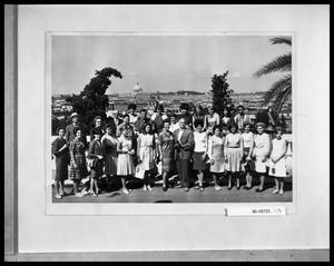 Primary view of object titled 'HSU Group in Rome'.