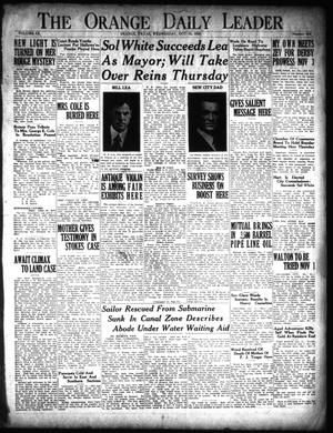 Primary view of The Orange Daily Leader (Orange, Tex.), Vol. 9, No. 254, Ed. 1 Wednesday, October 31, 1923