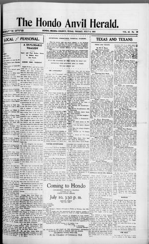 Primary view of object titled 'The Hondo Anvil Herald. (Hondo, Tex.), Vol. 42, No. 50, Ed. 1 Friday, July 6, 1928'.