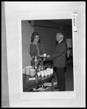 Primary view of object titled 'Man and Woman at Reception'.