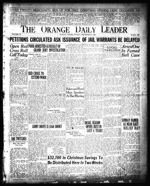 Primary view of object titled 'The Orange Daily Leader (Orange, Tex.), Vol. 9, No. 280, Ed. 1 Sunday, December 2, 1923'.