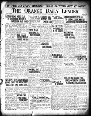 Primary view of object titled 'The Orange Daily Leader (Orange, Tex.), Vol. 9, No. 261, Ed. 1 Thursday, November 8, 1923'.