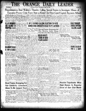 Primary view of The Orange Daily Leader (Orange, Tex.), Vol. 9, No. 219, Ed. 1 Thursday, September 20, 1923