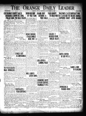 Primary view of object titled 'The Orange Daily Leader (Orange, Tex.), Vol. 9, No. 273, Ed. 1 Thursday, November 22, 1923'.