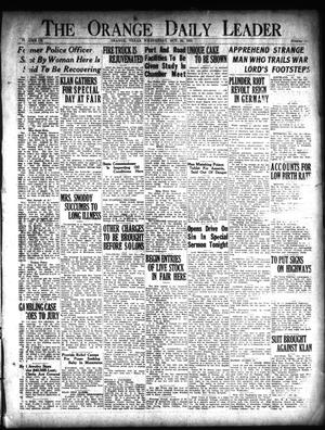 Primary view of object titled 'The Orange Daily Leader (Orange, Tex.), Vol. 9, No. 248, Ed. 1 Wednesday, October 24, 1923'.