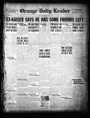 Primary view of object titled 'Orange Daily Leader (Orange, Tex.), Vol. 14, No. 246, Ed. 1 Tuesday, December 3, 1918'.