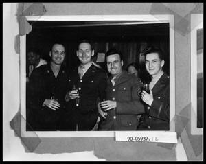 Primary view of object titled 'Four Military Men'.