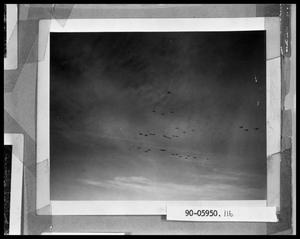Primary view of object titled 'Bombers in Flight'.