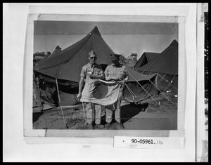 Primary view of object titled 'Two Soldiers With Japanese Flag'.