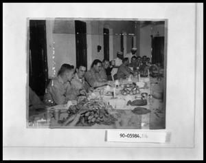 Primary view of object titled 'Military Men at Table Eating'.