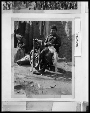 Primary view of object titled 'Oriental Woman at Spinning Wheel'.
