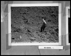 Primary view of object titled 'Man on Rocky Slope'.