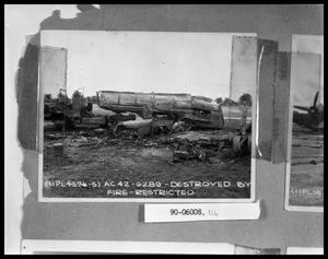 Primary view of object titled 'Truck Destroyed by Fire'.