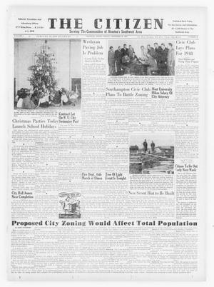 Primary view of object titled 'The Citizen (Houston, Tex.), Vol. 1, No. 24, Ed. 1 Friday, December 19, 1947'.