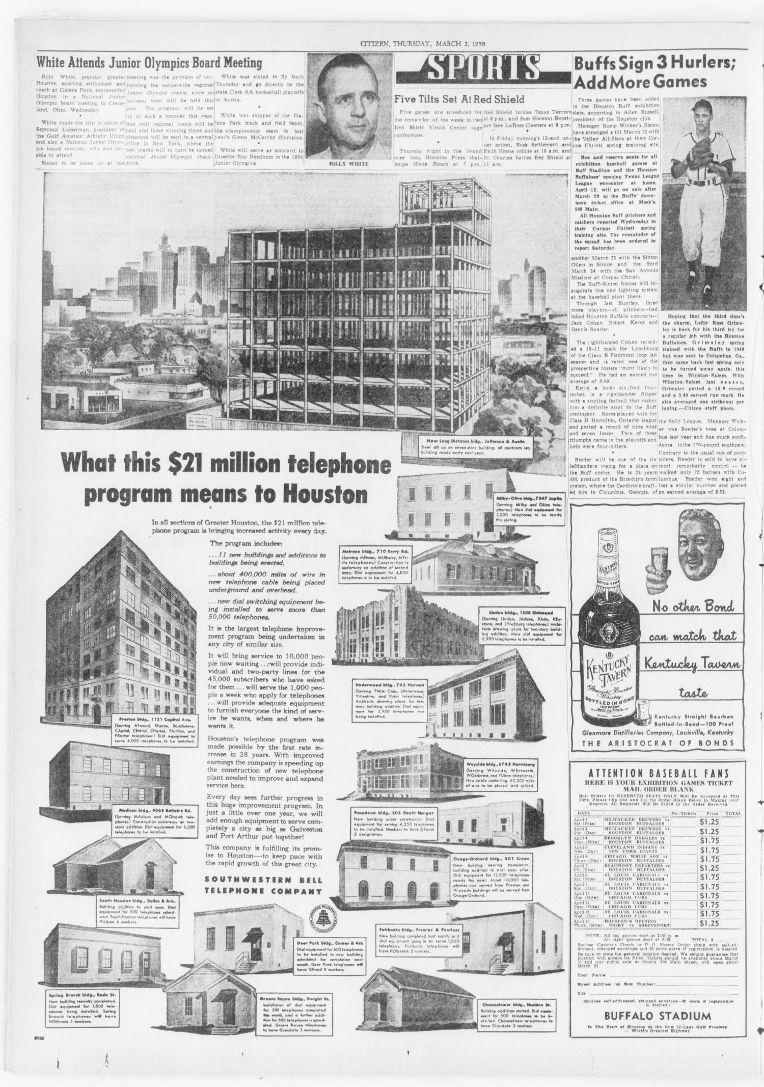 The Southwest Citizen (Houston, Tex.), Vol. 3, No. 47, Ed. 1 Thursday, March 2, 1950                                                                                                      [Sequence #]: 12 of 16