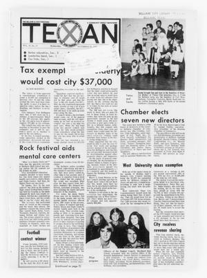 Primary view of object titled 'The Bellaire & Southwestern Texan (Bellaire, Tex.), Vol. 19, No. 37, Ed. 1 Wednesday, December 13, 1972'.