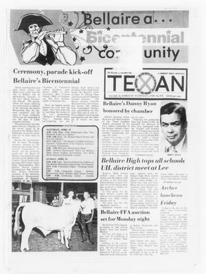 Primary view of object titled 'The Bellaire & Southwestern Texan (Bellaire, Tex.), Vol. 22, No. 50, Ed. 1 Wednesday, April 16, 1975'.