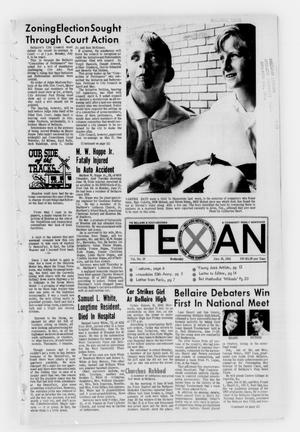 Primary view of object titled 'The Bellaire & Southwestern Texan (Bellaire, Tex.), Vol. 15, No. 19, Ed. 1 Wednesday, June 26, 1968'.