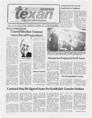 Primary view of object titled 'The Bellaire Texan (Bellaire, Tex.), Vol. 24, No. 22, Ed. 1 Wednesday, October 5, 1977'.
